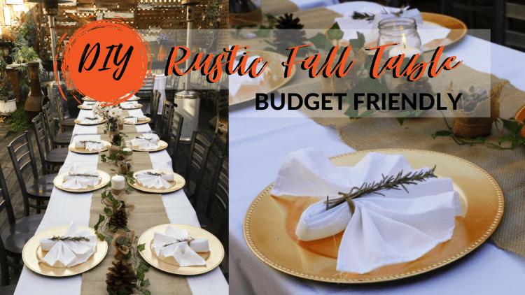 DIY RUSTIC FALL TABLE BUDGET FRIENDLY