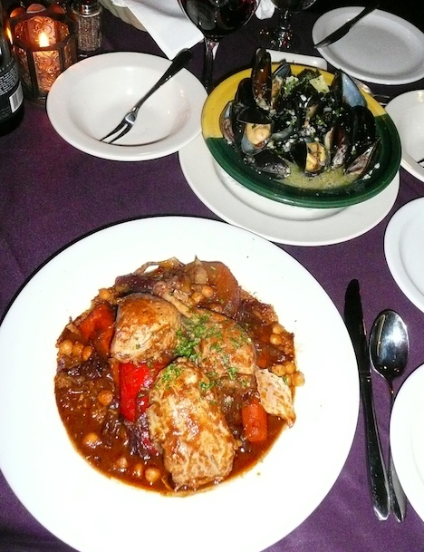 Carthage Café cous-cous and mussels, Tim Pawsey photo