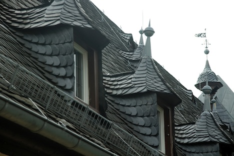 Slate roof detail at Schloss Vollrads, Tim Pawsey photo