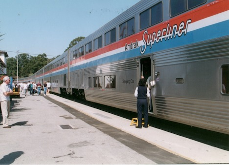 Amtrak's Coast Starlight—the first of a score of train trips around the world