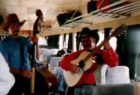 All the frills on the Mexican train—including a Mariachi serenade!