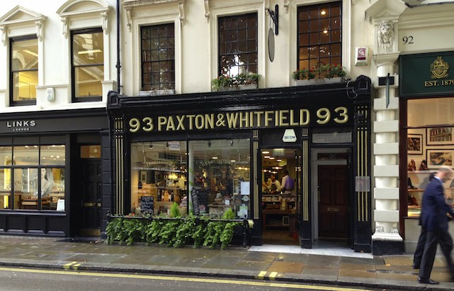 Paxton & Whitfeild cheese store, London