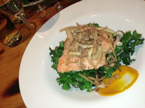 Steelhead and kale: healthy indulgence