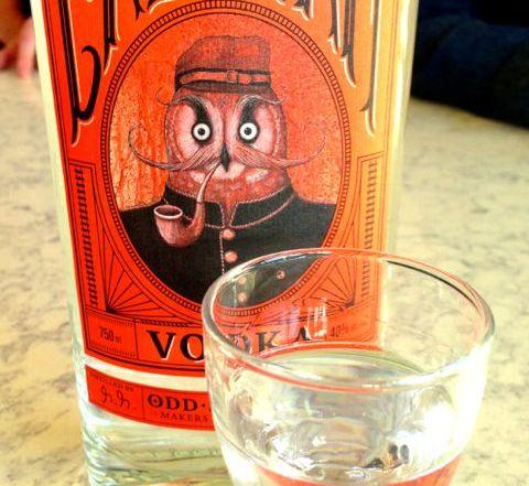 Odd Society bottle and glass