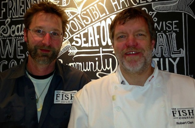 In Vancouver, The Fish Counter's Mike McDermid (l) and Robert Clark are fully committed to sustainable seafood