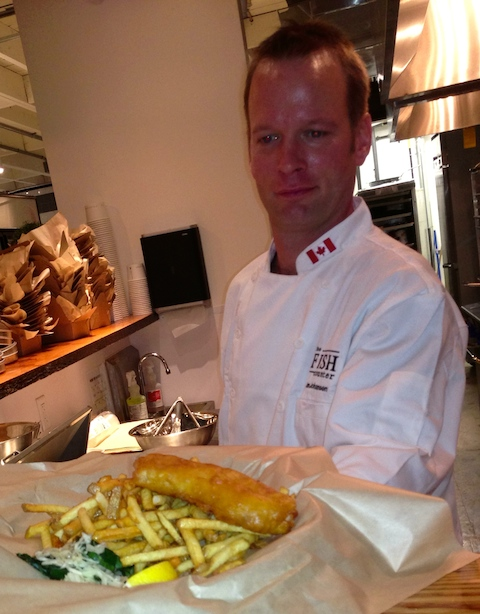 The Fish Counter offers Substantial and super fresh fish 'n chips, ready to go