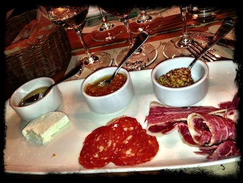 Part of the fun at Salt is trying out different combinations: one more good reason to order the wine flight.
