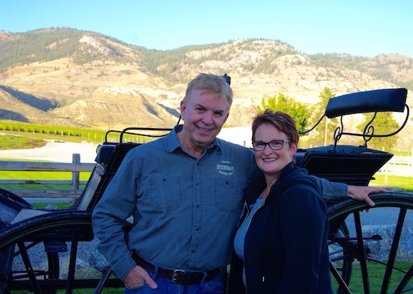 Kamloops wine pioneers Ed and Vicki Collett of Harpers Trail