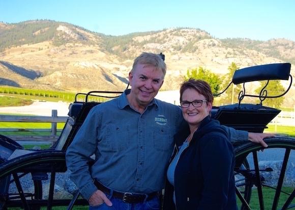 Kamloops wine pioneers Ed and Vicki Collett of Harpers Trail