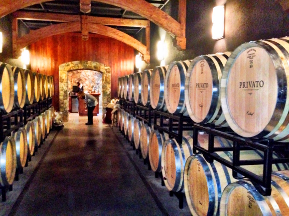Privato's immaculate cellar, just north of Kamloops