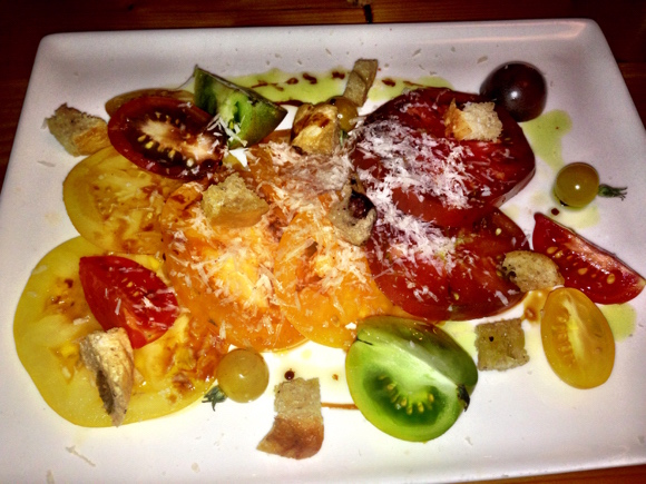Heirloom tomato salad at Kamloops' Terra Restaurant