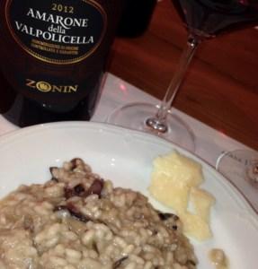 Amarone risotto, a delicious regional dish