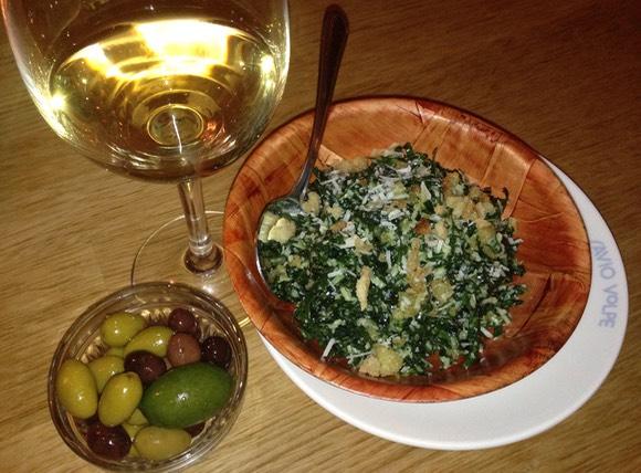 Savio Volpe's black kale salad: it's a keeper