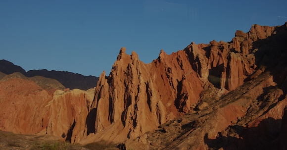 Good Malbec comes from all over Argentina, including from Cafayate, just beyond these amazing mountains in Salta