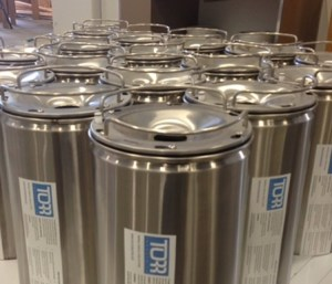 One way Torr kegs ready to go (image courtesy Torr)