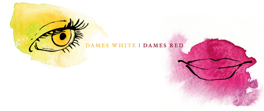 les dames white and red border