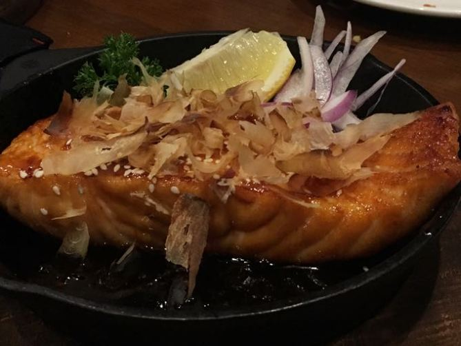 Maji grilled salmon