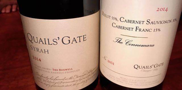 VIP tasting, Quails Gate premium wines