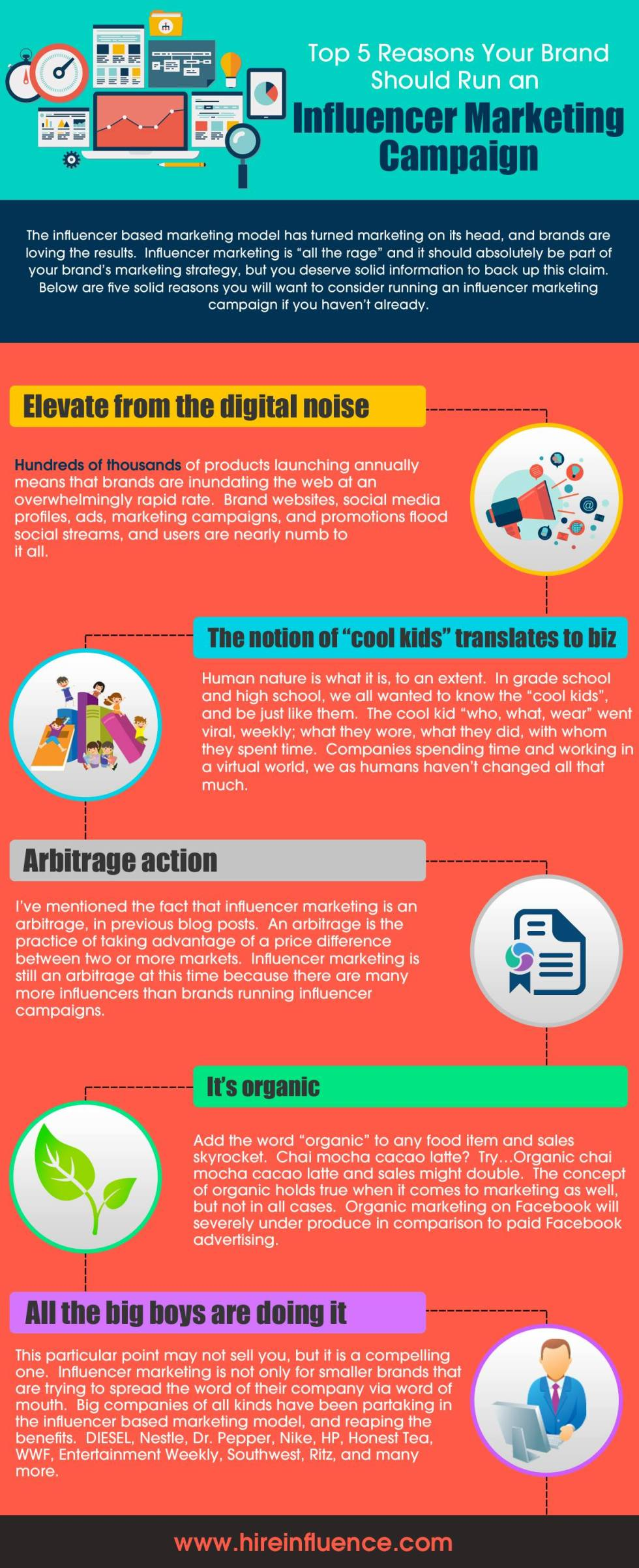 Infographic: 5 benefits of influence marketing