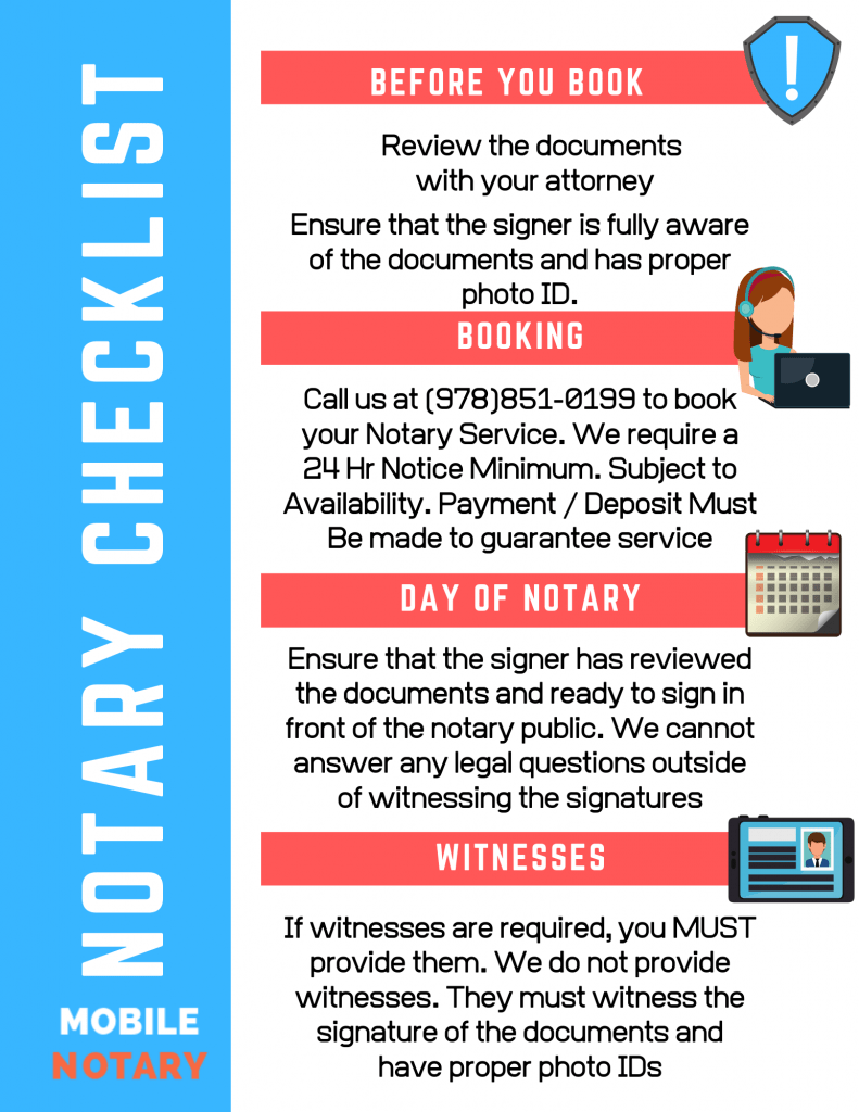 Mobile Notary Checklist