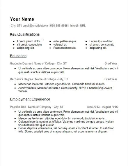education based many skills resume template