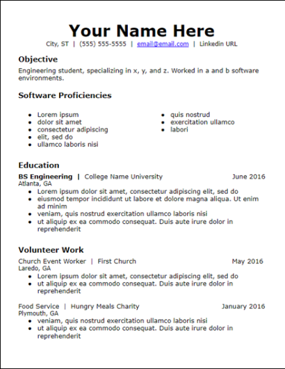 Free Chronological Resume Templates - HirePowers.net