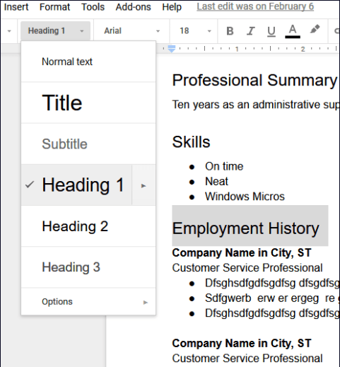 Google Docs Resume Templates Free to Download - HirePowers.net