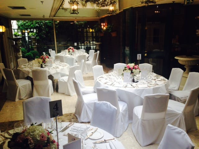 wedding chair cover hire chesterfield hanging chairs the conservatory mayfair hotel enquire now space venue at