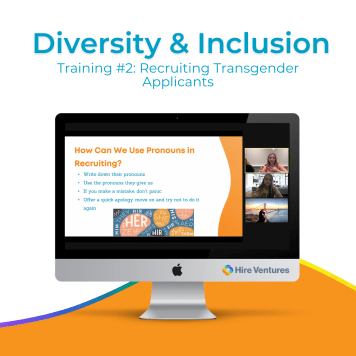 Our second virtual D&I training was on recruiting transgender applicants