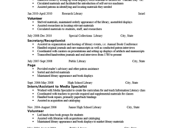 Library Volunteer Cover Letter | Resumes And Cover Letters The Ohio ...