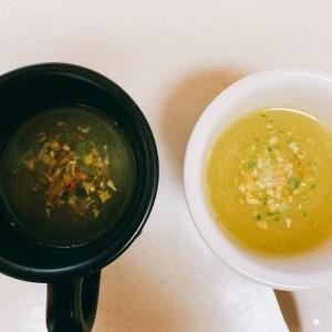 冷やしラーメン用のスープを作る