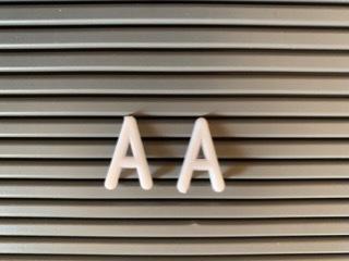 アルファベット文字のAの比較