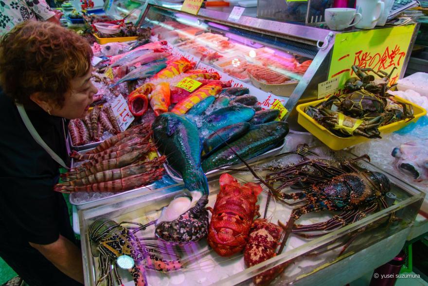 第一牧志公設市場の魚たち