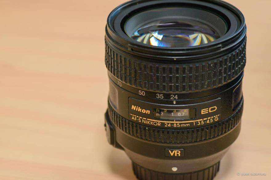 Nikonの24-85mm VR