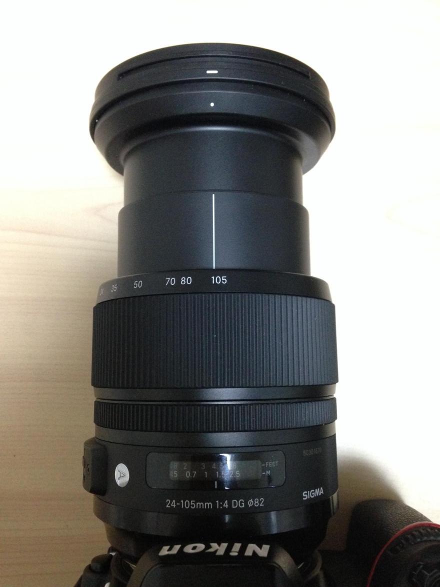 D600にSIGMA 24-105mm F4 DG OS HSMをつけて伸ばしみた