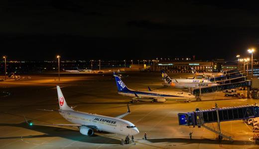 年末の中部国際空港から出国!久しぶりにモニター付きの飛行機に乗れた!