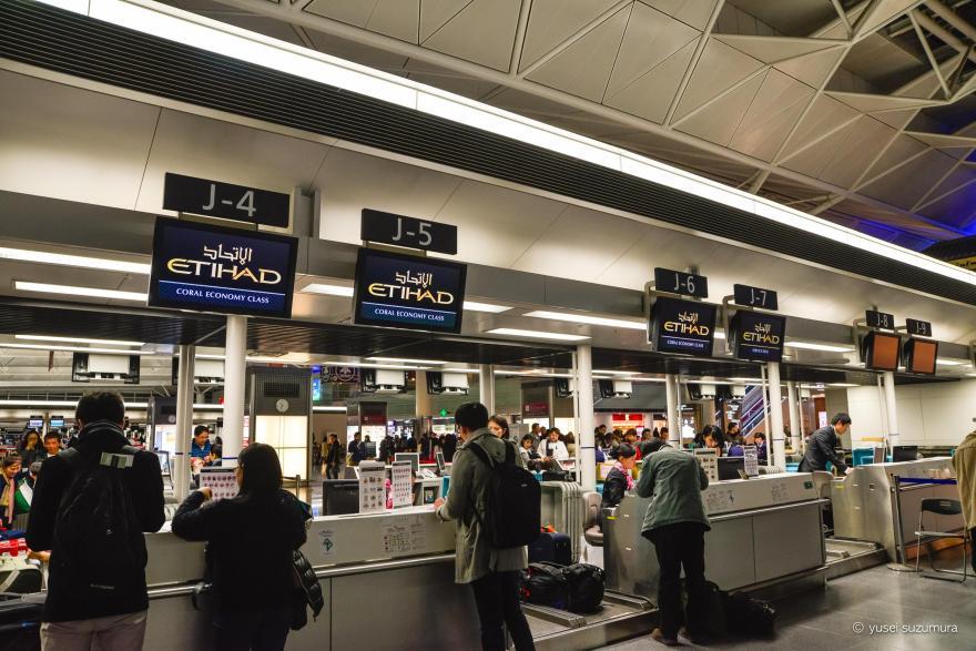 エディハド カウンター 中部国際空港