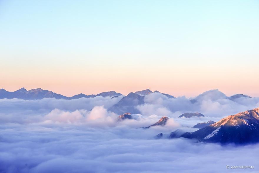 雲海 水晶小屋