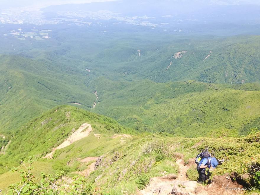 阿弥陀岳から船山十字路