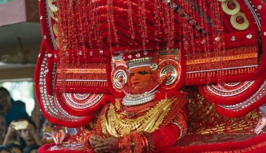 南インドのカヌールで行われているテイヤムの見つけ方