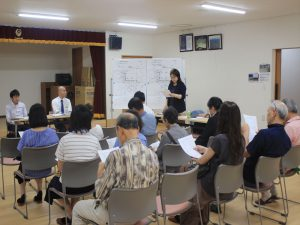 9月2日、地元説明会が行われました=羊ケ丘通町内会館