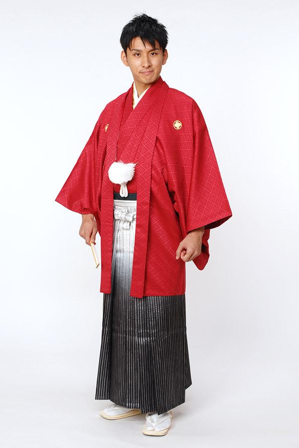紋付袴 紅(くれない)