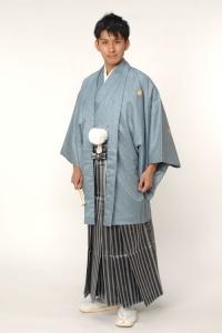 ライトブルー紋付袴