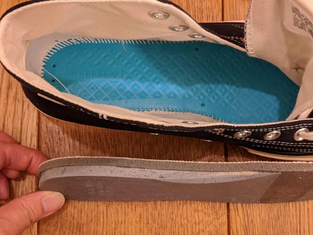 『コンバース CT70・レビュー』サイズ感や履き心地、気になる偽物について元靴屋が紹介・インソール画像