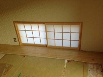 障子を製作しました。家具以外にも建具の製作も行います。