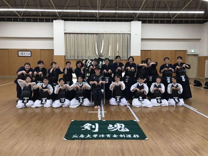 広島皆実高校女子の皆さんと練習試合を行ないました!!