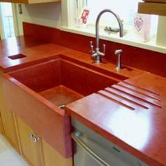 Red Kitchen Cabinets Flush Mount Ceiling Lights Countertops | Hirshfield's Color Club