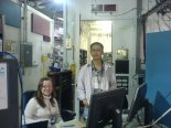 Jen Kirchhoff and Lam Nguyen at the beamline, Brookhaven National Lab