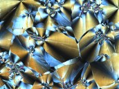 Polarized optical microscope image of a liquid crystal columnar phase