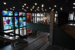 青森県弘前市・「喫茶室baton」のコーヒーフロートと青く輝くゼリーポンチ